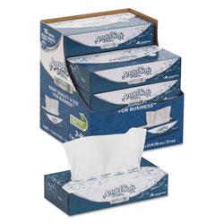 Angel Soft ps Ultra Facial Tissue, 2-Ply, White, 8 4/5 x 7 2/5, 125/Box, 10 Boxes/Carton