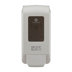 Pacific Blue Ultra Wall-Mounted Manual Soap Dispenser for Foaming Hand Soap and Hand Sanitizer, White, 11.5 in H x 5.6 in W x 4.4 in