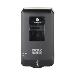 Pacific Blue Ultra Automated Touchless Hand Soap & Hand Sanitizer Dispenser, Black, 6.54 in W x 11.72 in D x 4 in H