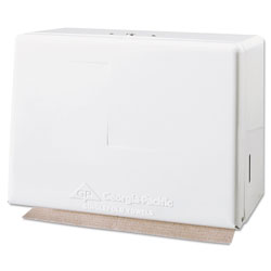 GP Singlefold Towel Dispenser, Steel, 11 5/8w x 6 5/8d x 8 1/8h, White