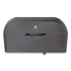 GP Jumbo Jr. Bathroom Tissue Dispenser, Double Roll, 22.1 x 4.8 x 12.1, Black