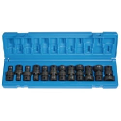 Grey Pneumatic 12 Piece 3/8 in Drive 6 Point Fractional Universal Impact Socket Set