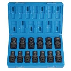 Grey Pneumatic 13 Piece 1/2 in Drive Metric Universal Impact Socket Set