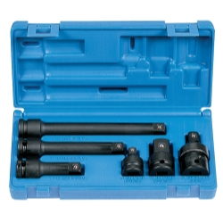 Grey Pneumatic 6 Piece 1/2 in Drive Impact Adapter and Extension Set