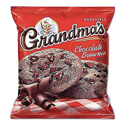 Grandma's Cookies - Single Serve, Chocolate Brownie, 2.5 oz Packet, 60/Carton