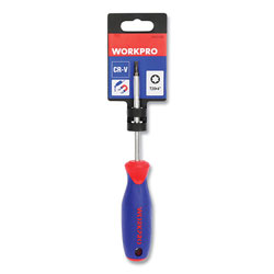Workpro® Straight-Handle Cushion-Grip Screwdriver, T25 TORX Tip, 4 in Shaft