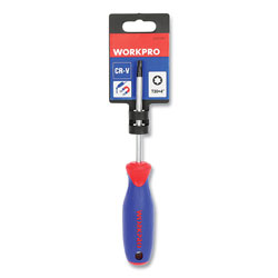 Workpro® Straight-Handle Cushion-Grip Screwdriver, T30 TORX Tip, 4 in Shaft