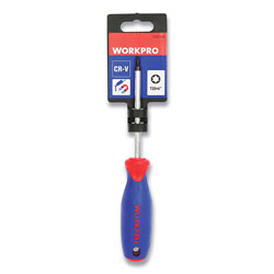 Workpro® Straight-Handle Cushion-Grip Screwdriver, T20 TORX Tip, 4 in Shaft