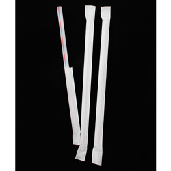 Chesapeake 7.75 in Red And White Stripe Giant Straw With Paper Wrap, Case of 1200