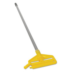 Rubbermaid Invader Aluminum Side-Gate Wet-Mop Handle, 1 dia x 60, Gray/Yellow