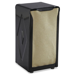 San Jamar Tabletop Napkin Dispenser, Tall Fold, 3 3/4 x 4 x 7 1/2, Capacity: 150, Black