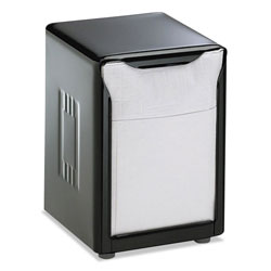 San Jamar H985BK Black Low Fold Napkin Dispenser