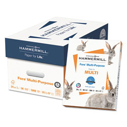 Hammermill Fore Multipurpose Print Paper, 96 Bright, 24lb, 8.5 x 11, White, 500 Sheets/Ream, 10 Reams/Carton