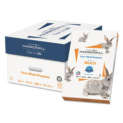 Hammermill Fore Multipurpose Print Paper, 96 Bright, 20lb, 8.5 x 14, White, 500/Ream
