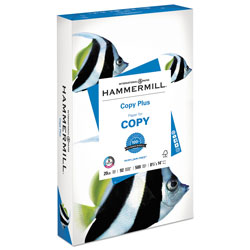 Hammermill Copy Plus Print Paper, 92 Bright, 20 lb, 8.5 x 14, White, 500/Ream