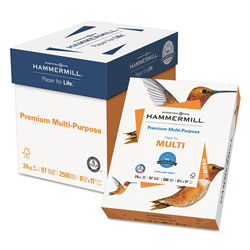 Hammermill Premium Multipurpose Print Paper, 97 Bright, 24lb, 8.5 x 11, White, 500 Sheets/Ream, 5 Reams/Carton