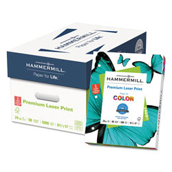 Hammermill Premium Laser Print Paper, 98 Bright, 3-Hole, 24lb, 8.5 x 11, White, 500/Ream