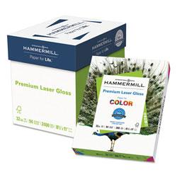 Hammermill Premium Laser Gloss Print Paper, 94 Bright, 32lb, 8.5 x 11, White, 300/Pack