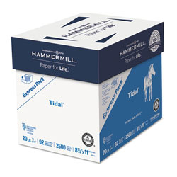 Hammermill Tidal Print Paper Express Pack, 92 Bright, 20lb, 8.5 x 11, White, 500 Sheets/Ream, 5 Reams/Carton