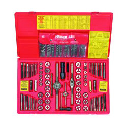 Hanson 117 Piece Fractional/Metric Tap, Dies, and Drill Bit Deluxe Set