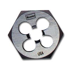 Hanson High-Carbon Steel Hexagon Die, 3/4 in-10NC, 1-7/16 in Diameter