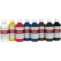 Handy Art Handy Art Acrylic Paint, 8oz., 8/ST, Assorted
