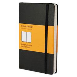 Moleskine Hard Cover Notebook, Narrow Rule, Black Cover, 5.5 x 3.5, 192 Sheets