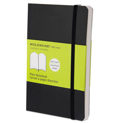 Moleskine Classic Softcover Notebook, Unruled, Black Cover, 5.5 x 3.5, 192 Sheets