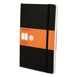 Moleskine Classic Softcover Notebook, 1 Subject, Narrow Rule, Black Cover, 8.25 x 5, 192 Sheets