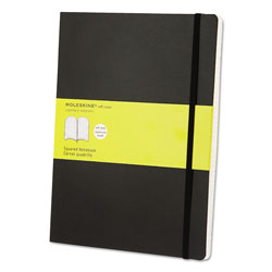 Moleskine Classic Softcover Notebook, 1 Subject, Quadrille Rule, Black Cover, 10 x 7.5, 192 Sheets