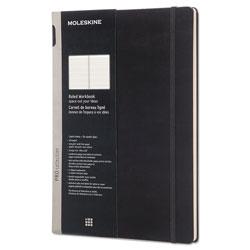 Moleskine Professional Notebook, Medium/College Rule, Black Cover, 11 x 8.5, 176 Sheets