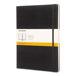 Moleskine Classic Colored Hardcover Notebook, Narrow Rule, Black, 10 x 7.5, 192 Sheets