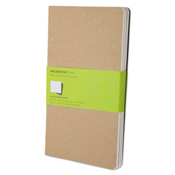 Moleskine Cahier Journal, Unruled, Kraft Brown Cover, 8.25 x 5, 80 Sheets, 3/Pack