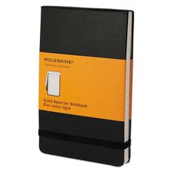 Moleskine Reporter Notebook, Narrow Rule, Black Cover, 3.5 x 5.5, 192 Sheets