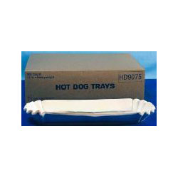 "Dixie HD9075 Heavy Weight 11"" Fluted Hot Dog Trays"