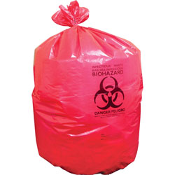 Heritage Bag Biohazard Can Liners, 1.3mil, 37 in x 50 in, 150BG/BX, Red