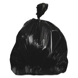 Heritage Bag Linear Low-Density Can Liners, 56 gal, 0.7 mil, 43 in x 47 in, Black, 100/Carton