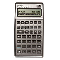 HP 17BIIPLUS Financial Calculator, Alphanumeric, 22 x 2 Display, Leather Pouch