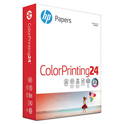 HP ColorPrinting24 Paper, 97 Bright, 24lb, 8-1/2 x 11, White, 500 Sheets/Ream