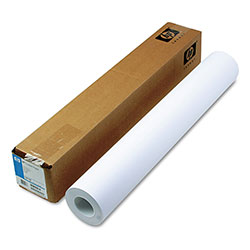 HP Designjet Inkjet Large Format Paper, 4.5 mil, 24 in x 150 ft, White