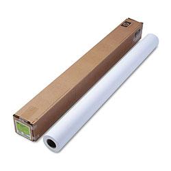 HP Designjet Inkjet Large Format Paper, 6.6 mil, 42 in x 100 ft, White