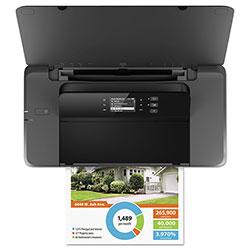 HP Mobile Printer, 10PPM, 128 MB DDR3 Memory, Black