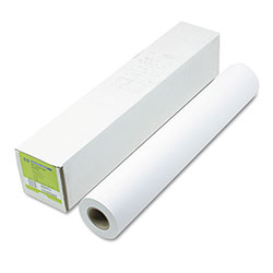 HP Designjet Inkjet Large Format Paper,4.9 mil, 24 in x 150 ft, White