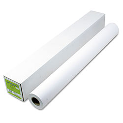 HP Designjet Inkjet Large Format Paper, 4.9 mil, 36 in x 150 ft, White