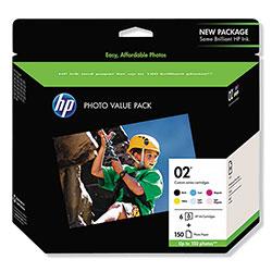 HP 02, (Q7964AN) 6-Pack Assorted Original Ink w/Photo Paper