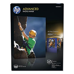 HP Advanced Photo Paper, 56 lbs., Glossy, 5 x 7, 60 Sheets/Pack