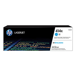 HP 414X, (W2021X) High-Yield Cyan Original LaserJet Toner Cartridge