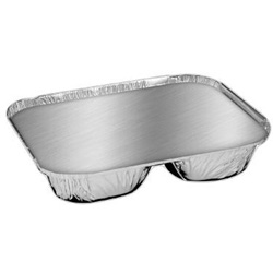 Handi-Foil Aluminum Oblong Container with Lid, 3-Compartment