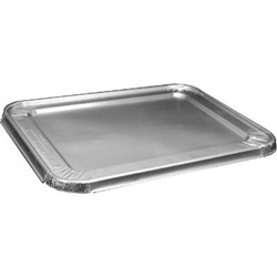 Handi-Foil Steam Table Pan Foil Lid, Fits Half-Size Pan, 100/Pack
