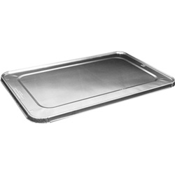 Handi-Foil Aluminum Steam Table Pan Lids, For Use With Full-Size Pans